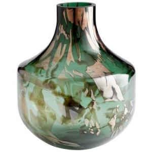 Maisha Vase - Green & Gold