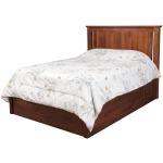 "Elegance Queen Pedestal Bed w/ 60"" Wide Drawers"