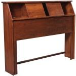 Elegance Queen Bookcase Headboard w/ Sliding Doors