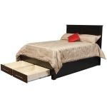 Metropolitan Queen Pedestal Bed w/2 Drawers in Footboard