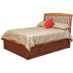 """Holmes Queen Pedestal Bed w/2 60"""" Wide Side Drawers"""