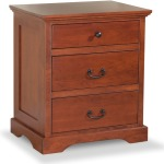Elegance 3-drawer Nightstand
