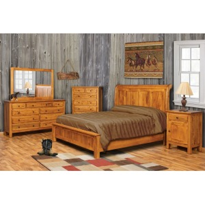 Lewiston King Sleigh Bed w/Low Footboard
