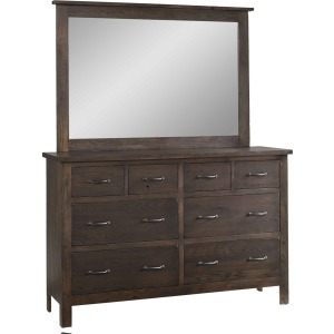 Homestead Solid Wood 8-Drawer Dresser with Mirror