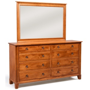 Cosmopolitan 8-Drawer Dresser w/ Tall Wide Mirror