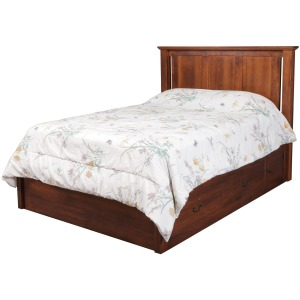 "Elegance Queen Pedestal Bed w/ 60"" Wide Drawers"