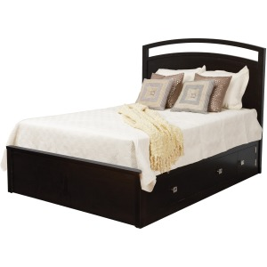 "Nouveau Queen Pedestal Bed w/ 60"" Drawers (1 Per Side)"