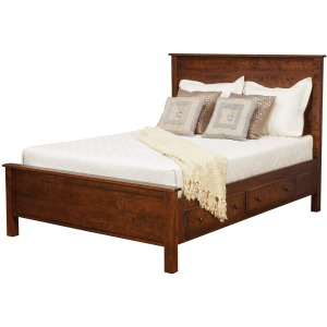 "Lewiston Queen Panel Supreme Bed w/ 2 30"" Drawers per Side"