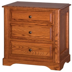 Victorian 3-Drawer Nightstand