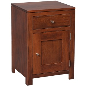 Modern 1-Drawer 1-Door Nightstand