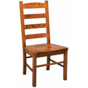 Ladder Back Side Chair w/Reclaimed Barnwood Seat