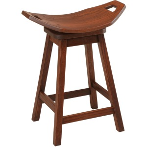 "18"" Cowboy Mission Swivel Barstool"