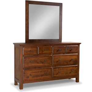 Lewiston 8-Drawer Double Dresser w/ Tall Medium Mirror