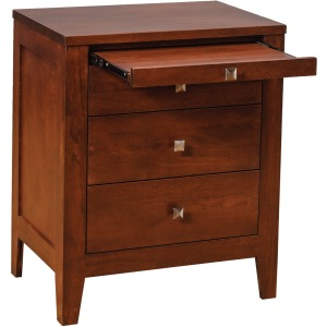 Nouveau 3-drawer Nightstand w/ Pullout Shelf