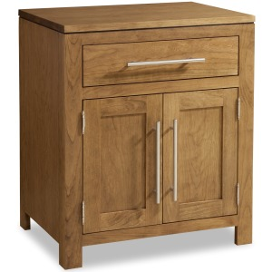 Modern 1-Drawer 2-Door Nightstand