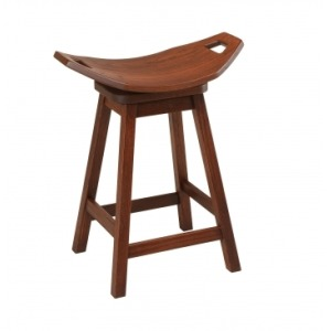 "24"" Cowboy Mission Swivel Barstool"