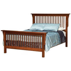 Mission King Bed w/ Standard Height Footboard