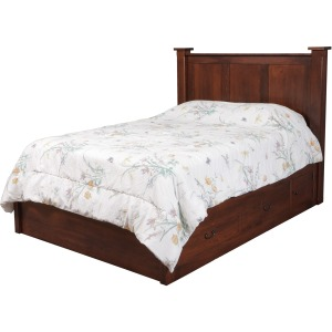"Treasure Queen Pedestal Bed w/ 60"" Wide Drawers"