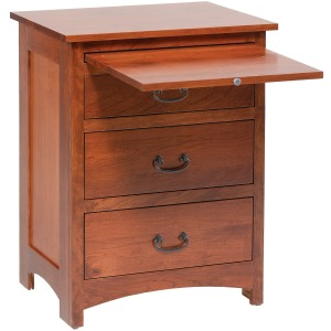 Treasure 3-Drawer Nightstand w/ Pullout Shelf
