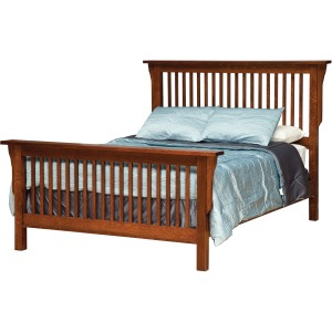 Mission Queen Bed w/ Std. Height Footboard