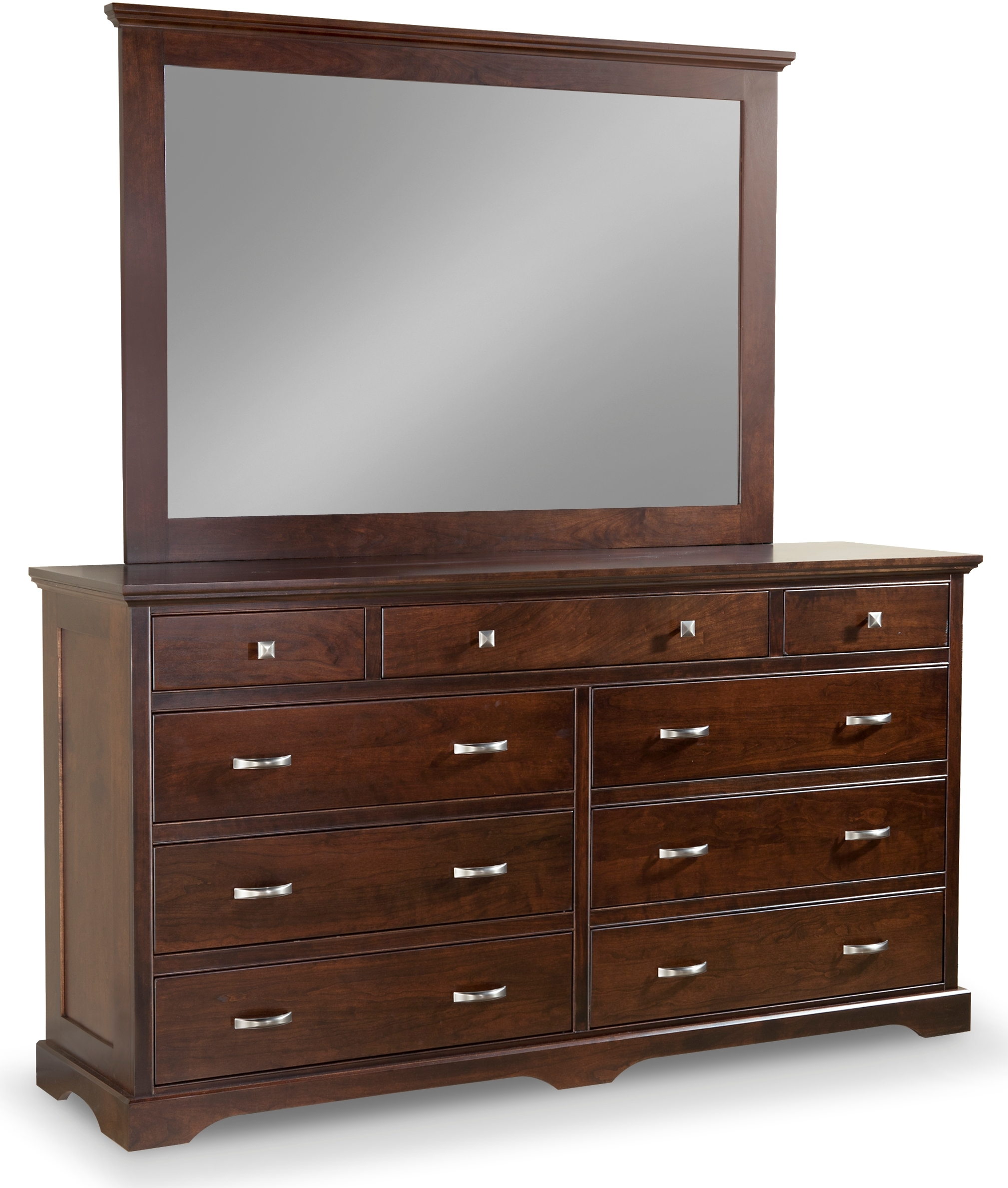 Elegance 9 Drawer Double Dresser With Tall Wide Mirror By Daniel S Amish Collection Nis698358599 Willis Furniture Mattress