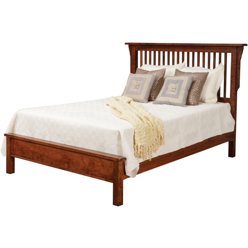 863e6ca03a7b Lewiston Queen Slat Bed w/Low Footboard by Daniel's Amish Collection ...