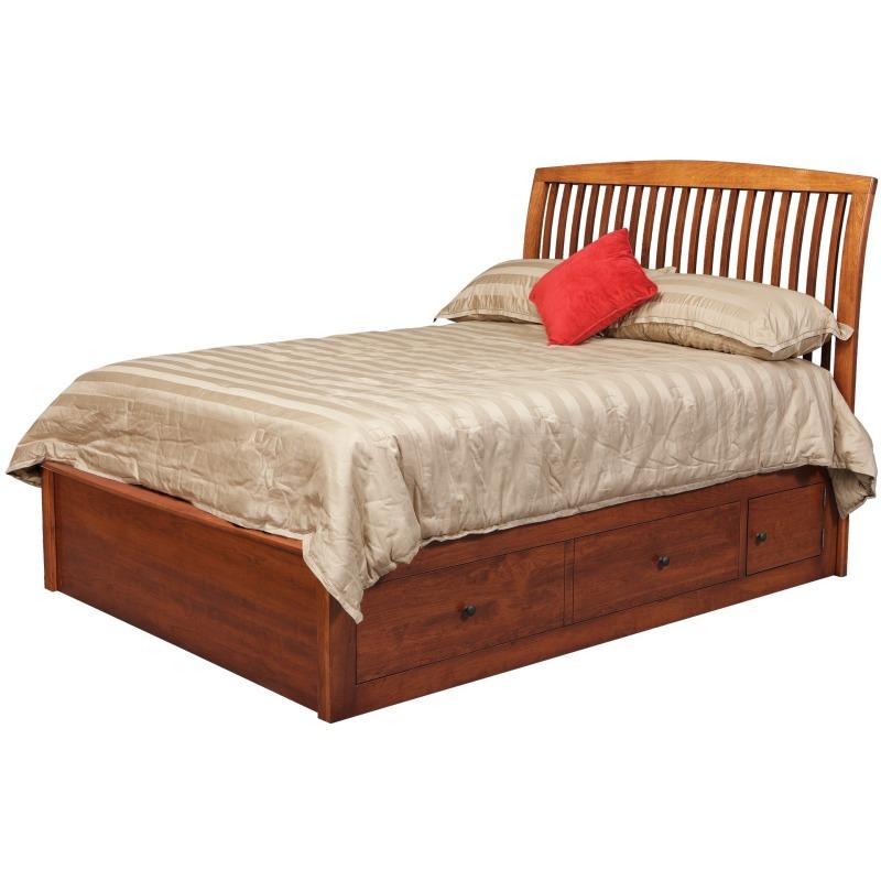 65ef97c4b208 Holmes Queen Pedestal Bed w/2 60