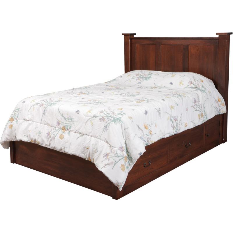 "Treasure Queen Pedestal Bed w/ 60"" Wide Drawers"