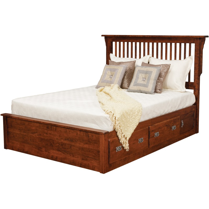 73138ed59d26 Lewiston Queen Slat Bed w/ 2 30 by Daniel's Amish Collection - 34 ...
