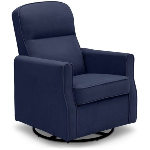 Clair Slim Nursery Glider Swivel Rocker Chair - Navy