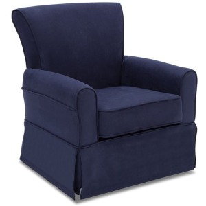 Benbridge Upholstered Glider - Navy