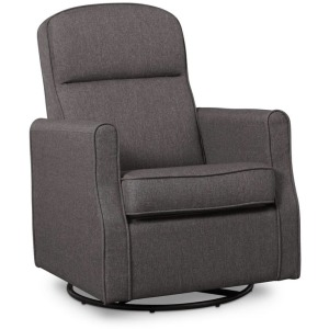 Blair Slim Nursery Glider Swivel Rocker Chair - Charcoal Grey