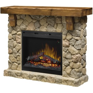 Fieldstone Mantel Fireplace