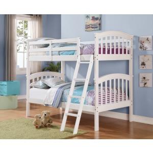 Twin/Twin Columbia Bunk Bed - White