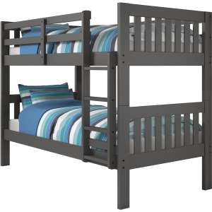 Twin/Twin Mission Bunk Bed - Dark Grey