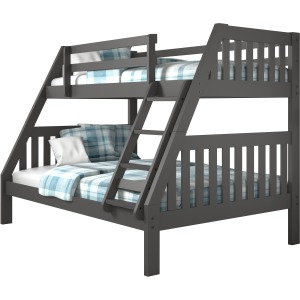 Twin/Full Mission Bunk Bed - Dark Grey