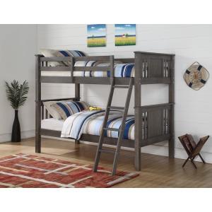 Twin/Twin Princeton Bunk Bed - Grey