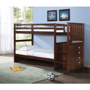 Mission Stairway Bunkbed - Cappuccino