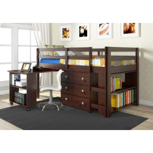 Twin Loft Bed W/ Hidden Desk