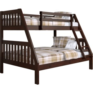 Twin/Full Mission Bunk Bed - Cappuccino