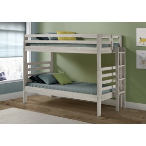 Twin/Twin Bunk Bed Embossed in Ice Grey