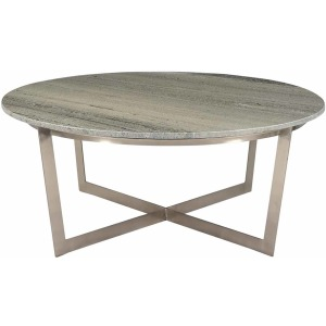 Yazo Coffee Table Nickle Finish
