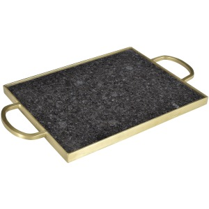 Tray Black Marble