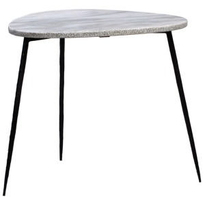"Olivio Side Table 20"" White Marble Top"