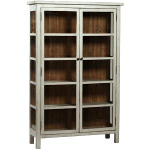 Anna Vitrine-Antique Grey Cabinet