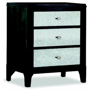 Night Stand W/Mirror Dwr Fronts - Front Street Collection