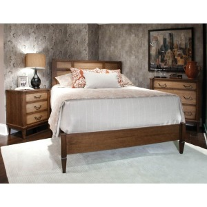 Queen Low Panel Bed - Harbor Loft Collection