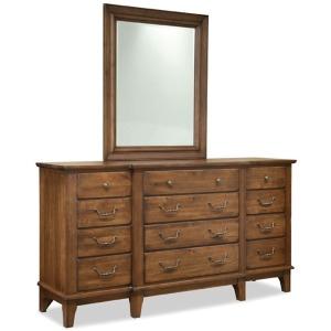 Breakfront Dresser & Mirror
