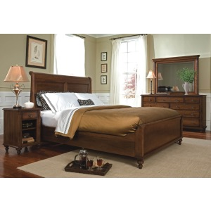 Low Sleigh Bed