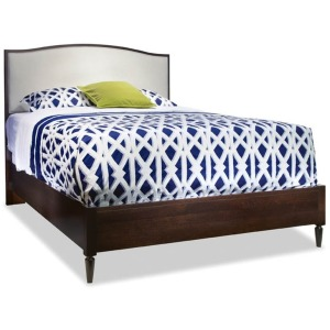King Upholstered Arch Top Bed - Solid Choices Collection
